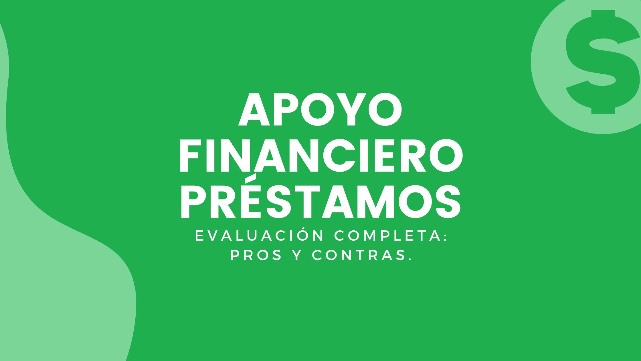 APOYO FINANCIERO PRÉSTAMOS