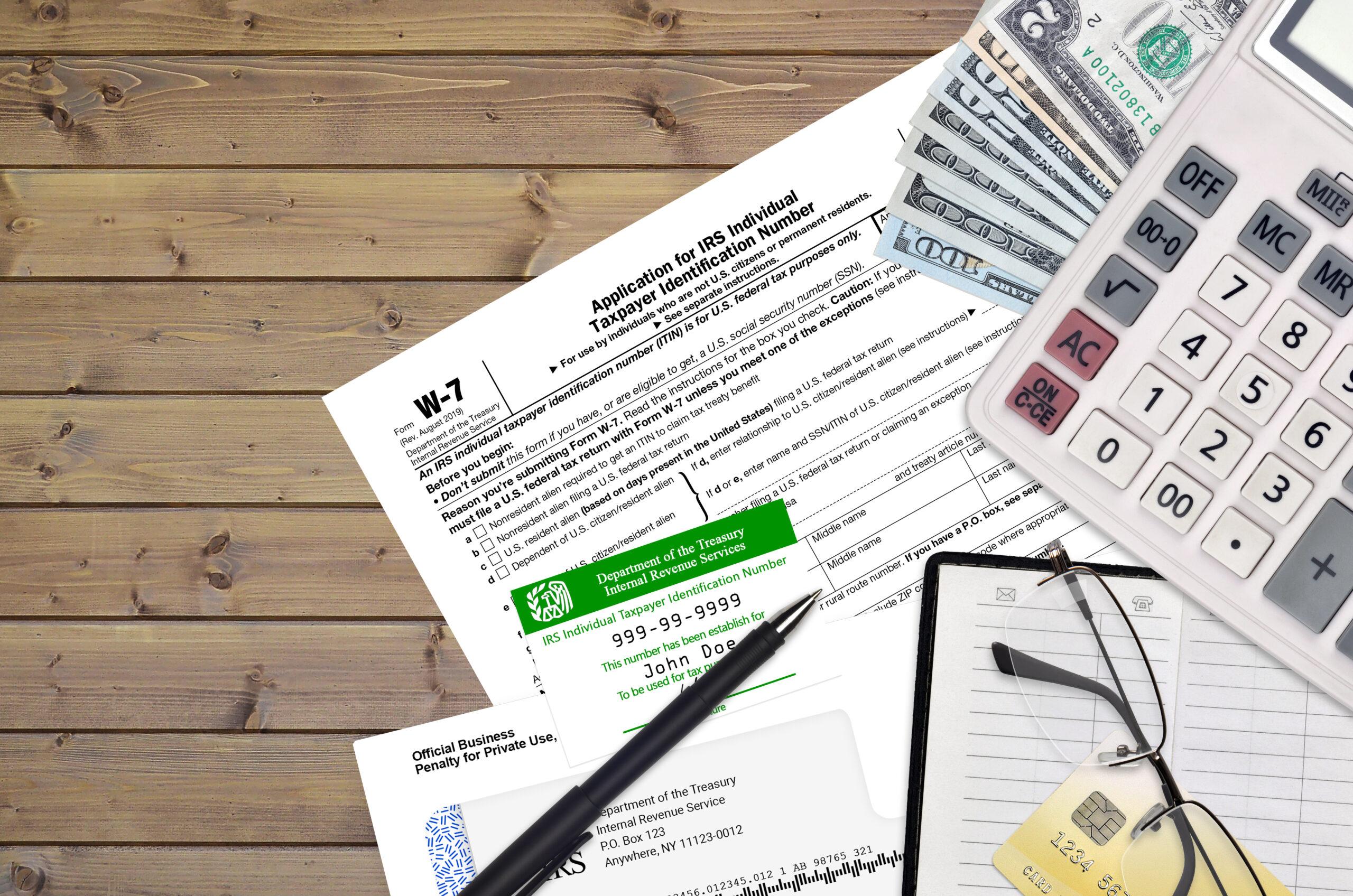 Formulario W7 Del IRS Para Solicitar ITIN En Estados Unidos