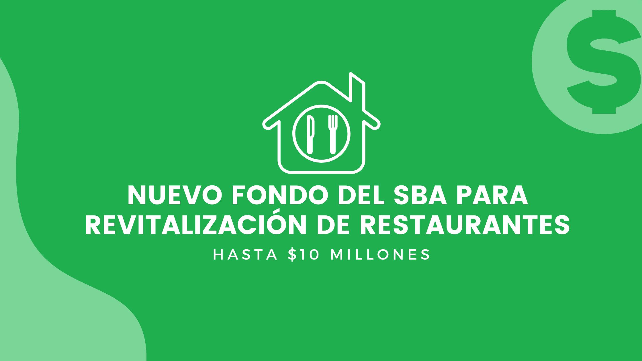 Nuevo fondo del SBA para revitalización de restaurantes