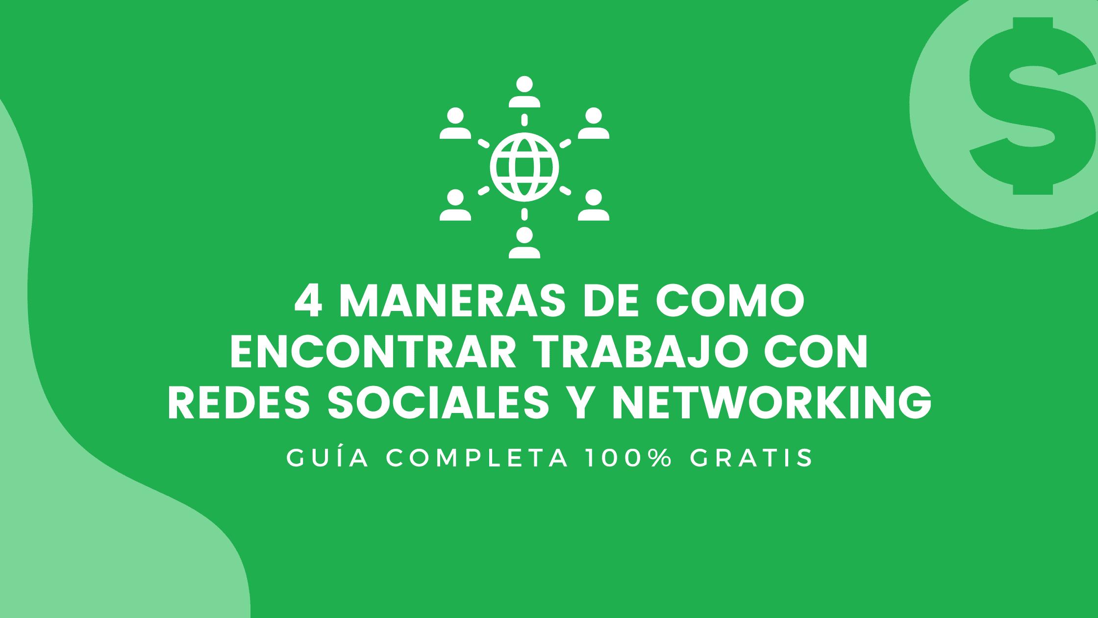 como encontrar trabajo con redes sociales y networking