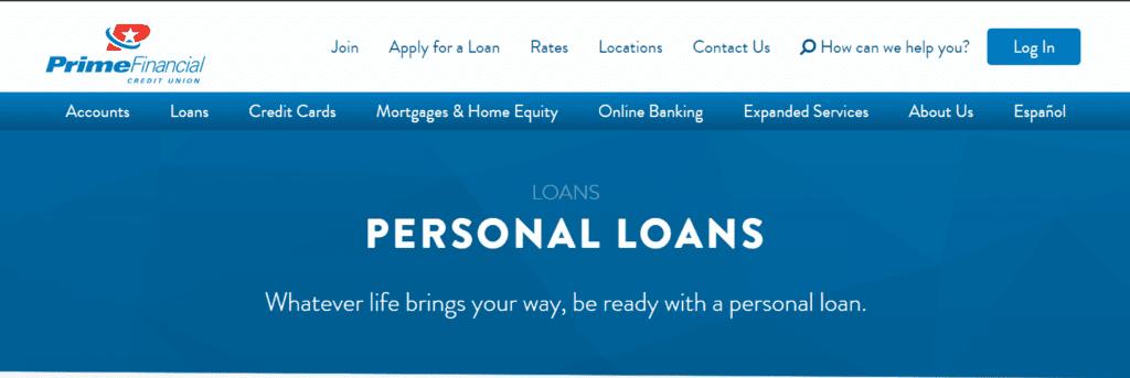 Prime Financial Credit Union- Préstamo personal con ITIN