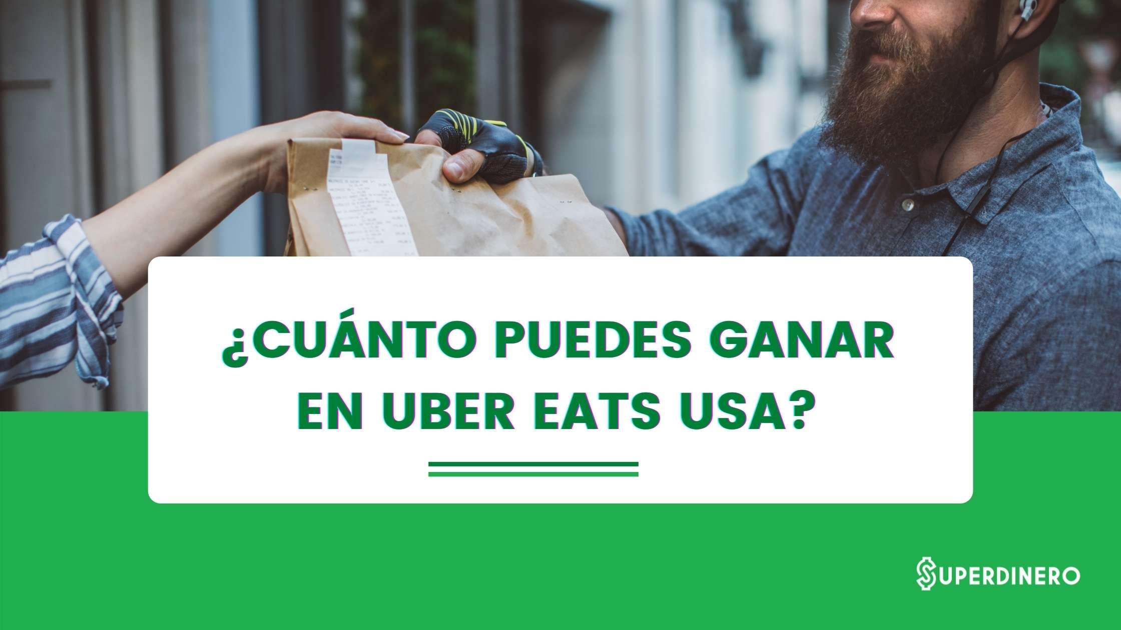 Conoce cuánto gana un conductor en Uber Eats USA